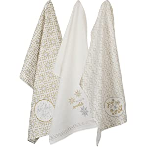 """Gold Lurex Embellished /""""Snowflakes/"""" Table Topper"""