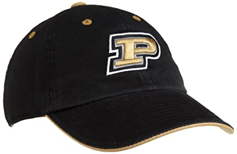 buy online 6898b 8a40f Purdue Boilermakers Adult Adjustable Hat, Black Gold