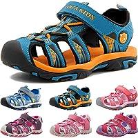 Sandalias Deportivas para Unisex niños Aire Libre Deporte Zapatillas de Senderismo Sandalias con Punta Cerrada Zapatos