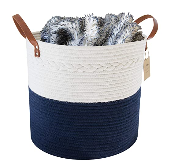 Handmade Rope Basket Home Decor Christmas D\u00e9cor Storage Holiday D\u00e9cor Natural /& Gold Made in USA Entertain