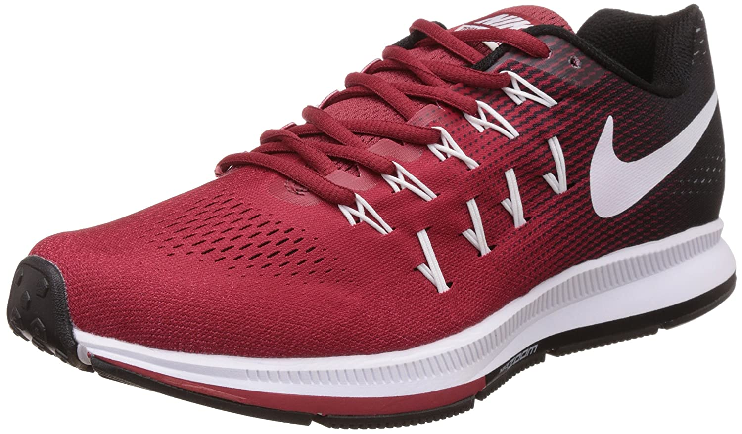 7c3d28c755ce ... Nike Mens Air Zoom Pegasus 33 Red Running Shoes - 9 UKIndia (44 EU) Delicate  Nike Air Zoom Pegasus 33 Pink White Grey 831356 603 Womens Girls Trail ...