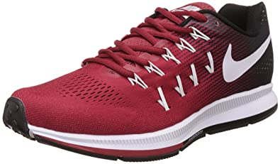 Nike Men's Air Zoom Pegasus 33 Red Running Shoes - 7.5 UK/India (42
