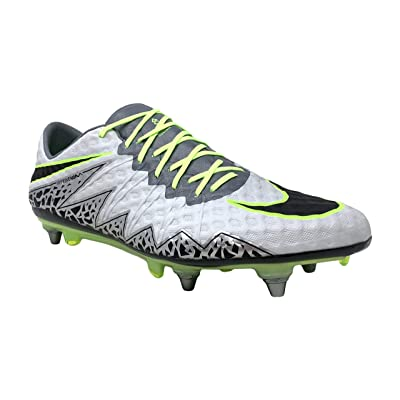 Nike Men's Hypervenom Phinish SG-PRO Soccer Cleat (Pure Platinum/Black-Ghost Green (Promo) | Soccer