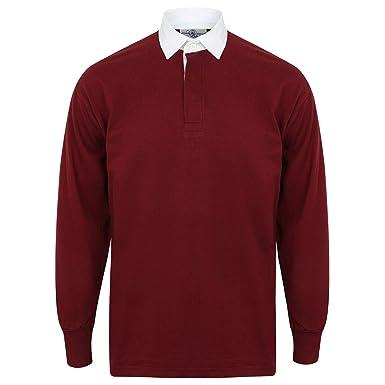 b17cb323b93 Amazon.com: Front Row Long Sleeve Classic Rugby Polo Shirt: Clothing