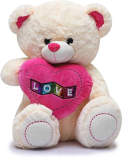 Fiddlys High Quality Huggable Soft Toy/ Stuff Toy (Love Teddy Bear, 40 cm)