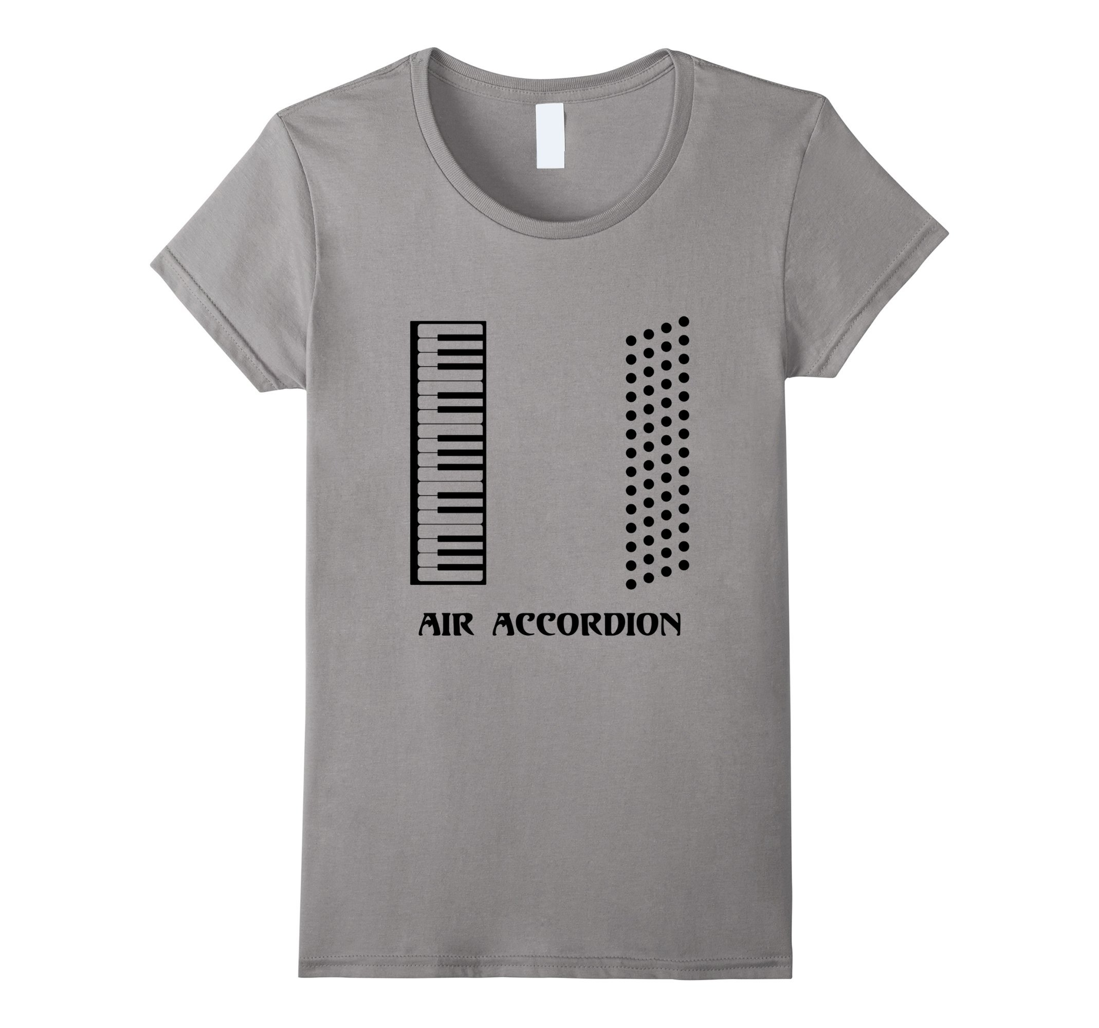de3a0377 Galleon - Womens Funny Air Accordion T-shirt Musical Instrument Band Quote  Large Slate