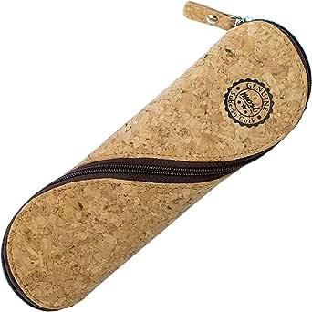 Estuche de gafas delgadas, estuche de lápices y cartuchera ~ Estuche suave de corcho portugués, estilo vintage, hecho a mano: Amazon.es: Ropa y accesorios