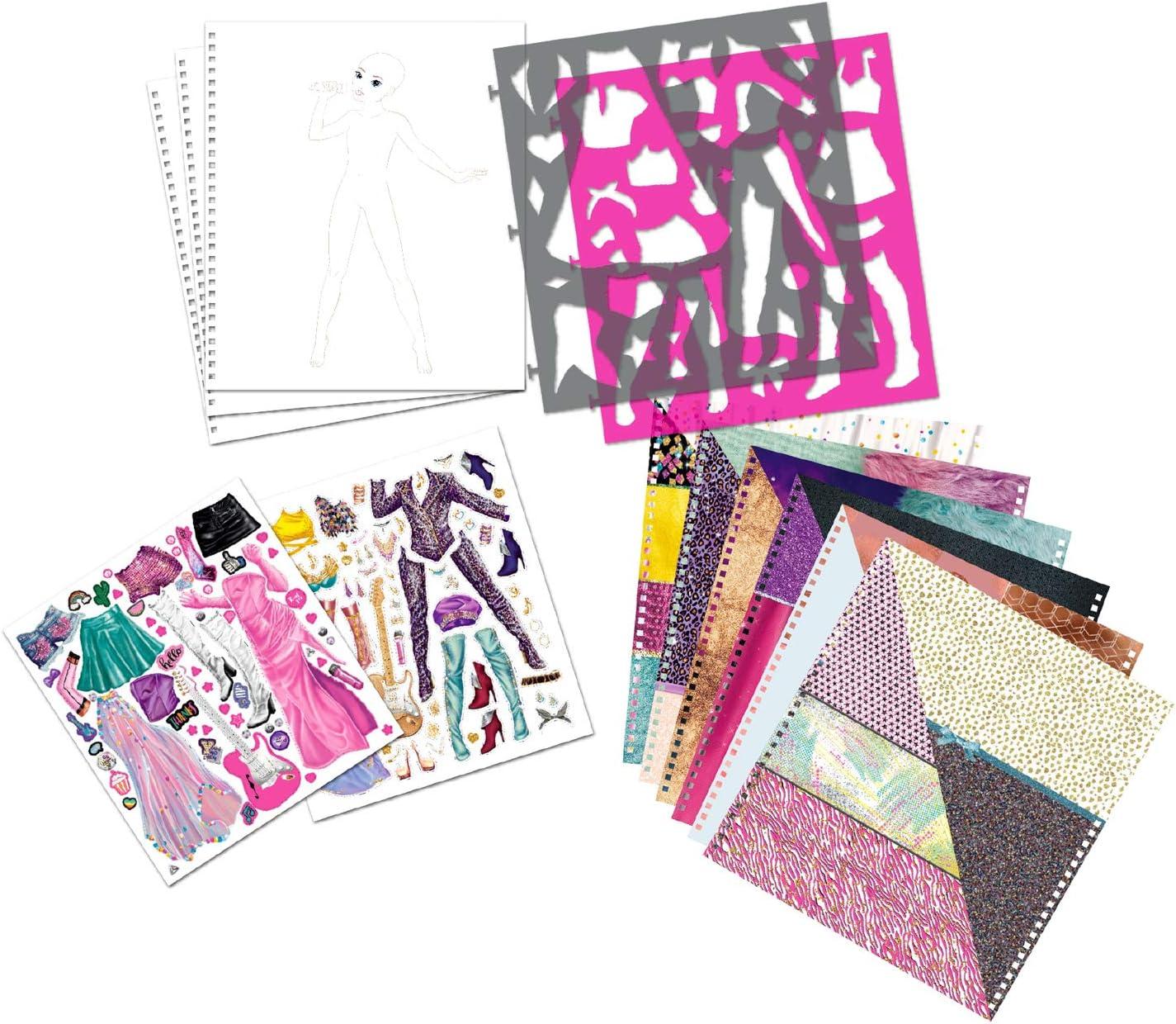 25,5 x 26,5 x 1,3 cm Libro para colorear Depesche 10900 TopModel Popstar