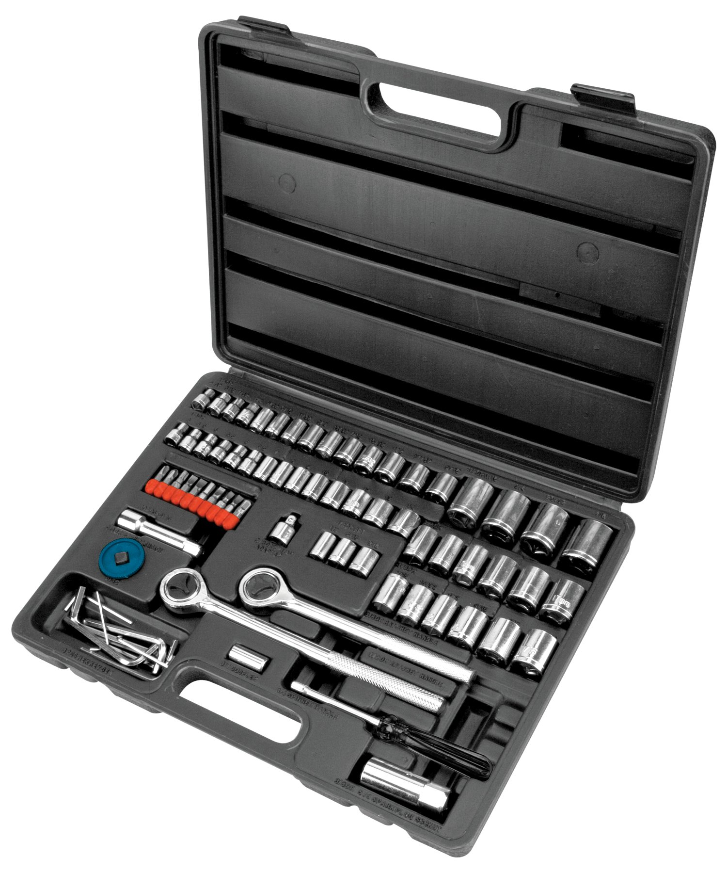 Performance Tool W1183 SAE/Metric 82-Piece Socket (1/4'', 3/8'' & 1/2'' Drive) & Bet Set