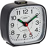 Orpat Beep Alarm Clock (Black, Small, 7.18 cm x 3.3 cm x 6.8 cm, TBB-137)