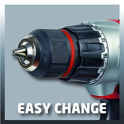 Taladro atornillador 18V doble batería iones de litio carga extra ...