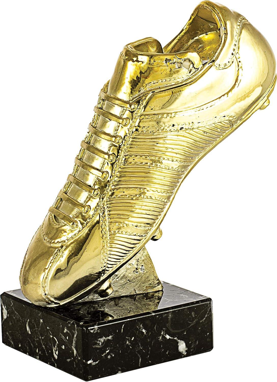 Art-Trophies TP413 Trofeo Deportivo Bota Fútbol, Dorado, 25 cm ...