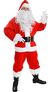 e2b632efe141 Santa Suit (Super Deluxe) - Adult Costume Men  STANDARD  Amazon.co ...