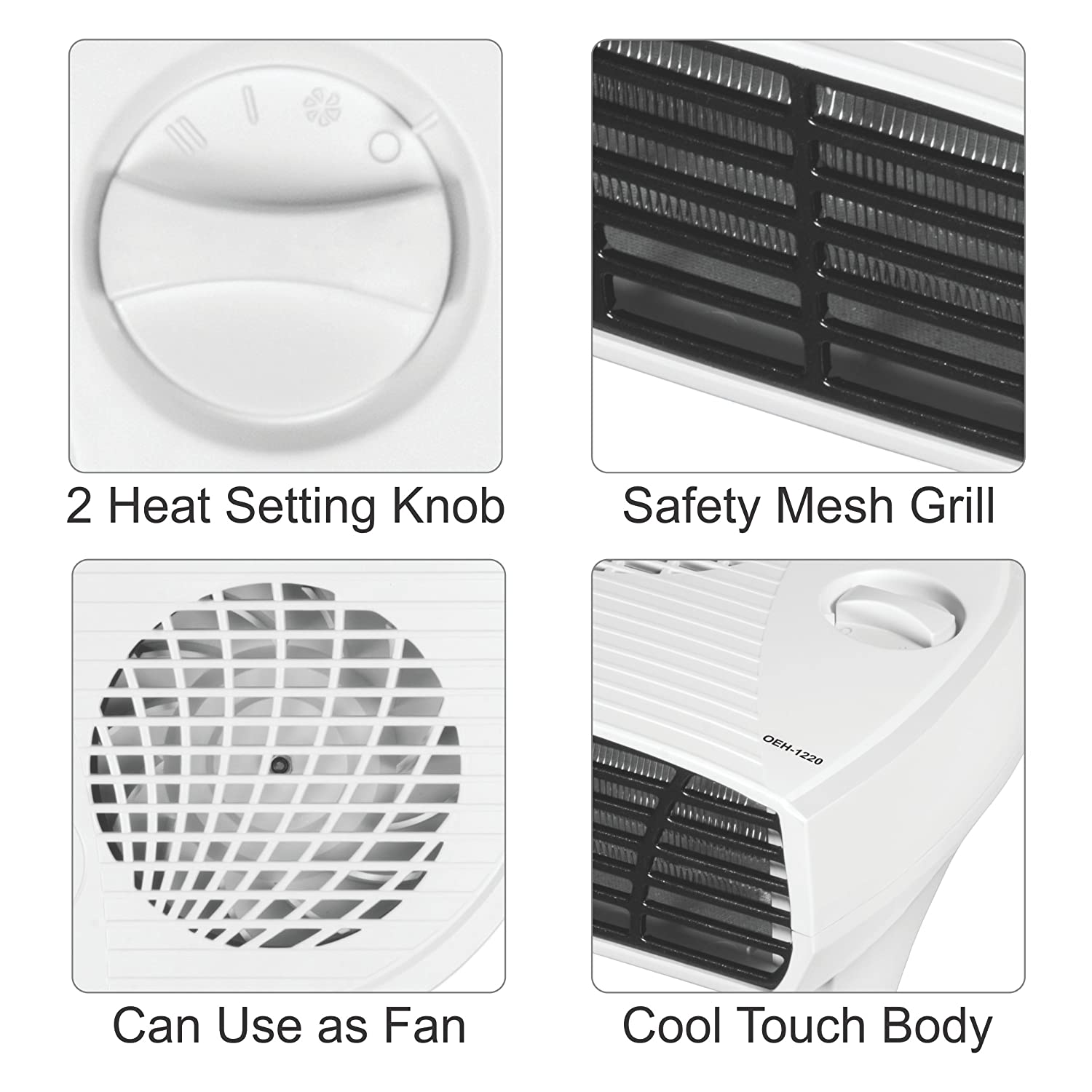 Orpat Oeh 1220 2000 Watt Fan Heater White Home Kitchen How To Install A Or Residential Wiring Diy