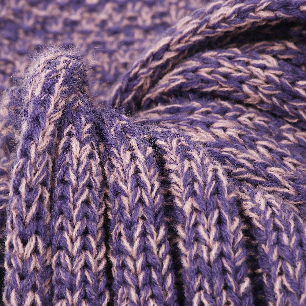 AmyHomie Mermaid Tail Blanket, Crochet Knitting Mermaid Blanket, Mermaid Tail Blanket for Kids All Seasons Sleeping Blankets for Girls (55x28in Purple) by AmyHomie (Image #4)