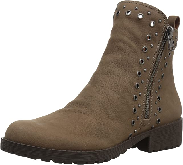 New Womens SOLE Brown Brindle Leather Boots Ankle Buckle