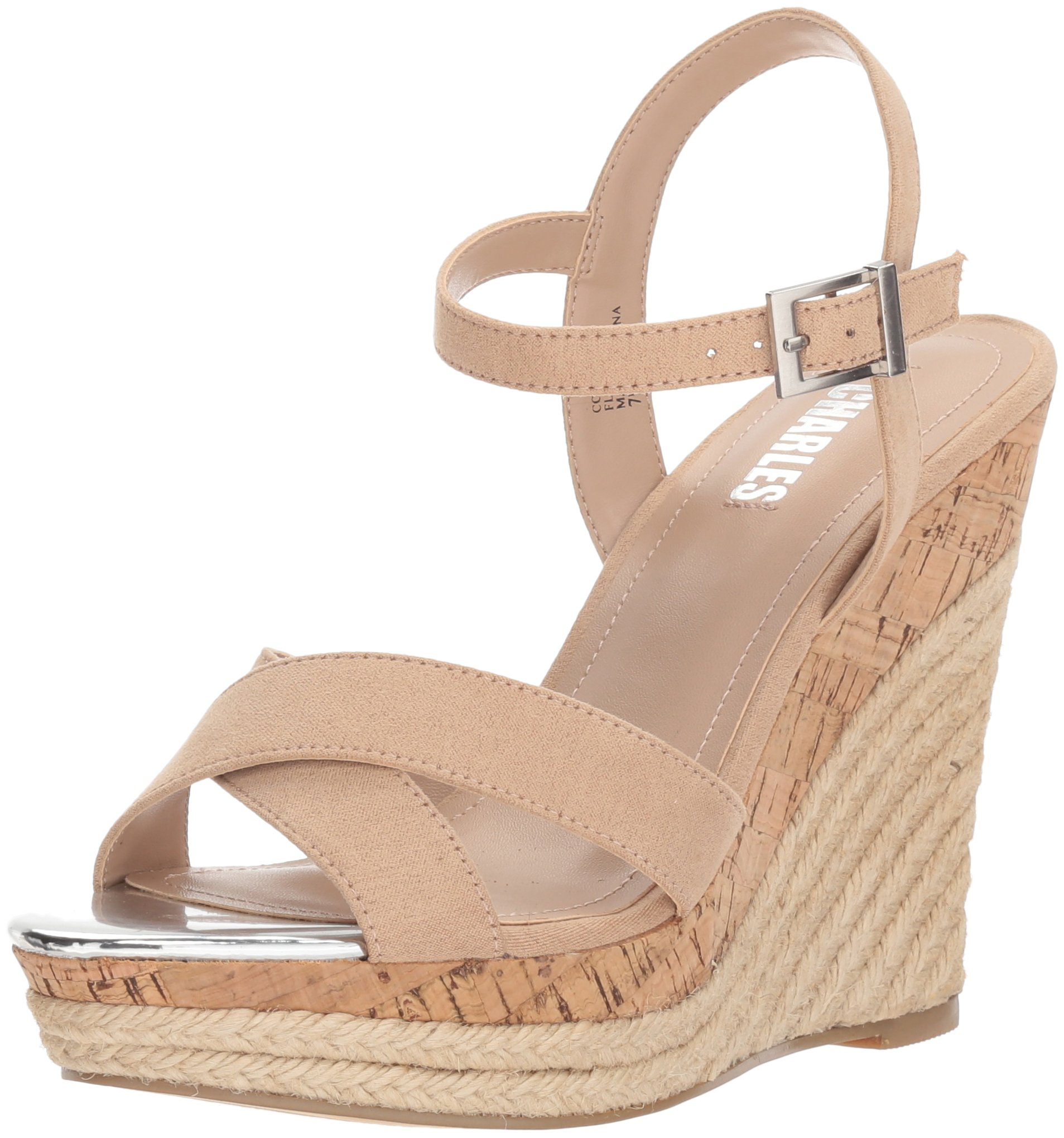 Style by Charles David Women's Annex Wedge Sandal, Nude, 8.5 M US