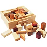 Soopsori All Natural Wooden Blocks, 66-Piece