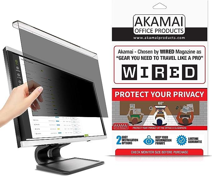 LCD Bildschirmschutzfolie lembrd Blickschutzfilter Blickschutzfolie Privacy Filter f/ür 21-24 Zoll Desktop Computer