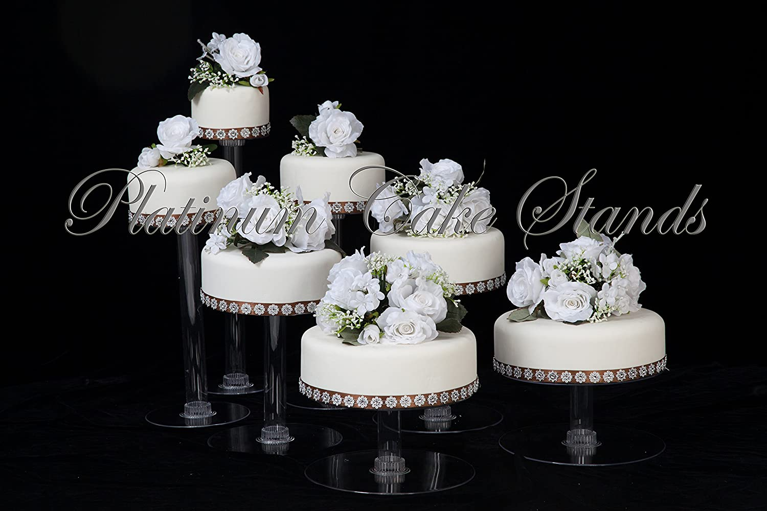 Amazon Com 7 Tier Clear Cascade Wedding Cake Stand Style R700