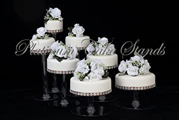 Amazoncom 7 Tier Clear Cascade Wedding Cake Stand Cake Stands