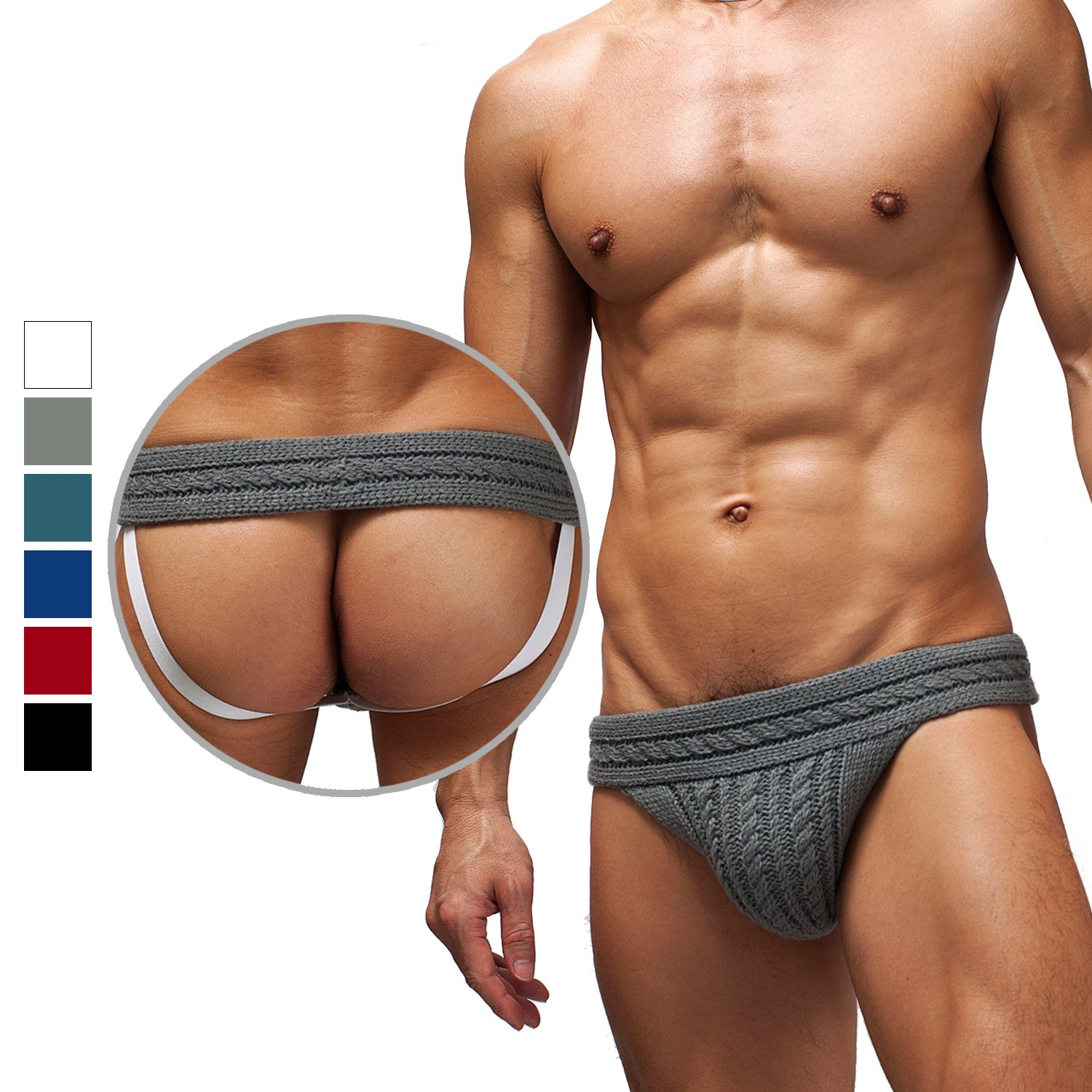 Chris&Je Mens Winter Woolen Jockstrap Underwear for Cold Day by Chris&Je