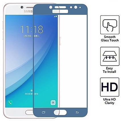 Todo Phone Store - Protector Pantalla CRISTAL TEMPLADO COMPLETO AZUL VIDRIO Antigolpes Premium para SAMSUNG J7