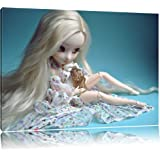 blond poupée Pullip avec cage à oiseaux Toile, XXL photos complètement encadrée avec de grandes images de coin, art impression sur la photo murale avec cadre, moins cher que la peinture ou une peinture à l'huile, pas une affiche ou bannière