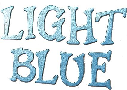 Darice FLT-1012 100 Piece Felties Royal Blue Alphabet Felt Stickers