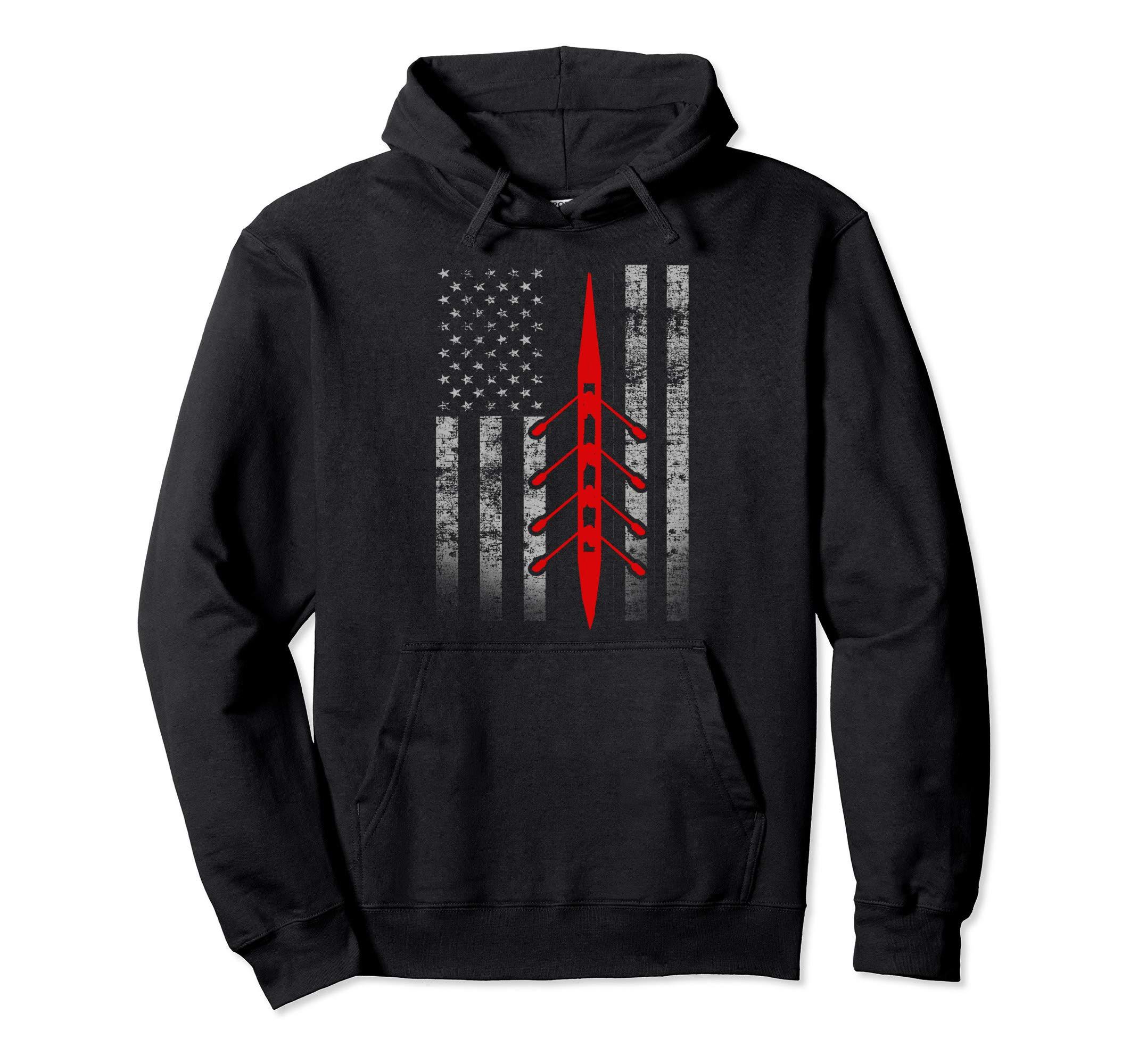 Rowing Flag Hoodie - Rowing Boat Flag Hooded Sweatshirt by Cool Rowing Flag Clothing