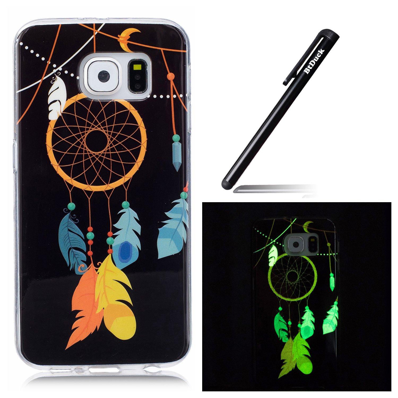 Case fü r Samsung Galaxy S6, Silikon Schutzhü lle fü r Samsung Galaxy S6, BtDuck Ultra dü nn Weich Nacht-Leuchtende TPU Silikon Rü ckschale Schutz Hü lle Silicon Case Tasche fü r Samsung Galaxy S6 Crystal Luminous Hü