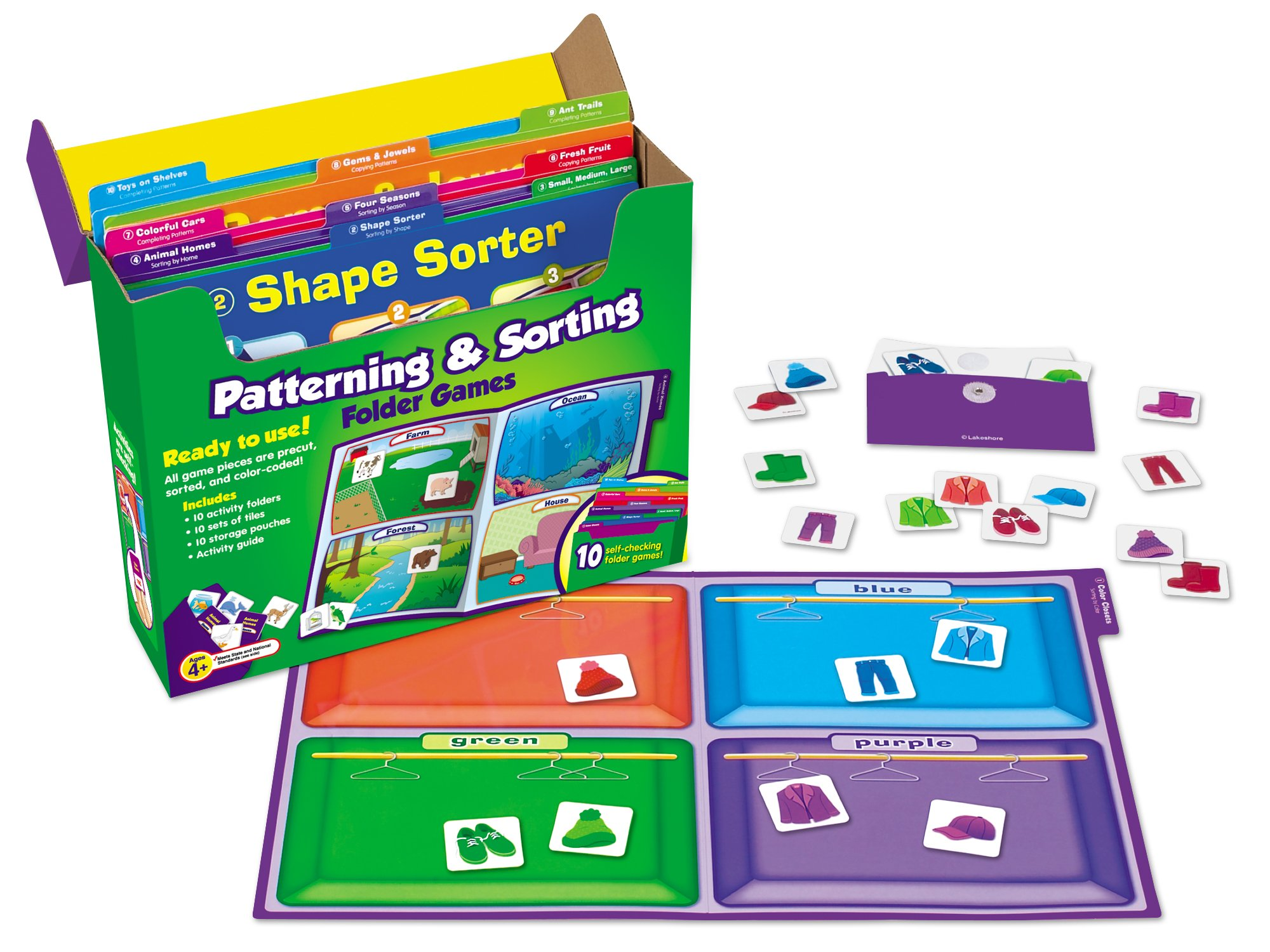 Lakeshore Early Math File Folder Game Libraries - Pre K-K - Complete Set by Lakeshore Learning Materials (Image #2)