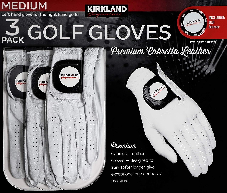 Kirkland Signature Cabretta - Guantes de golf para hombre (3 ...
