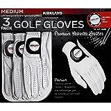 Kirkland Signature Men's Golf Gloves Premium Cabretta Leather