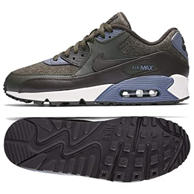 online retailer 070a8 84193 Nike Mens Air Max 90 Premium Wool Pack Shoes Sequoia/Velvet Brown/Light  Carbon 700155-300 Size 11.5