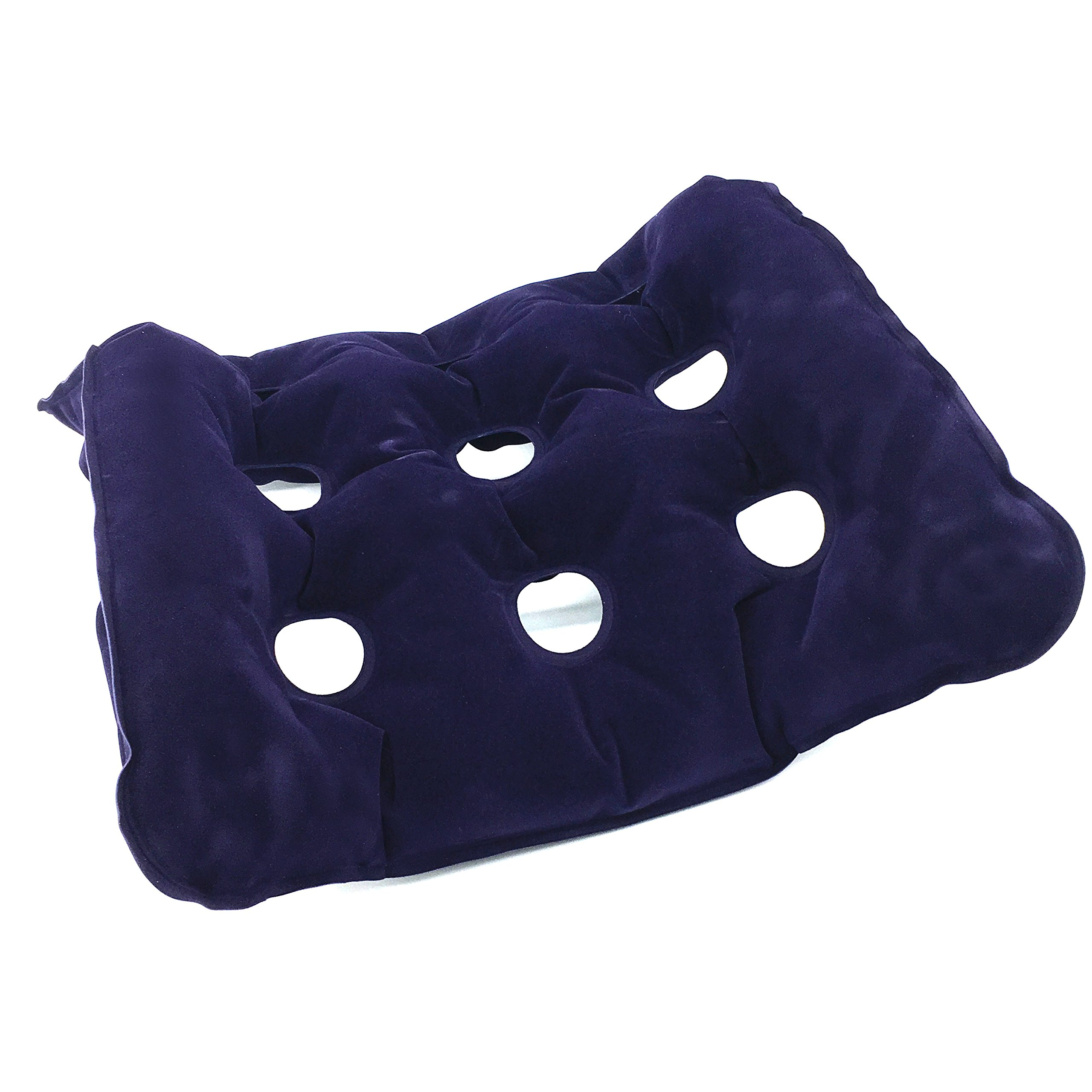 Silfrae Air Inflatable Seat Cushion, Ideal Design for Wheelchair, Office, All Day use, Perfect for Travel use, Heat Sealed Construction for Durability and Stability. (Purple, 18.5''x 18.5'')