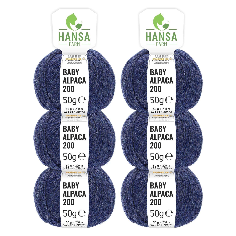 100% Alpakawolle 300g (6 x 50g) 50g) 50g) - Baby Alpaka Wolle (weich - kratzfrei) zum Stricken & Häkeln - 50+ Farben & 6 Garnstärken - Blau-Grün Heather B00PLNT2EG Hkel- & Strickgarn fb6b5b