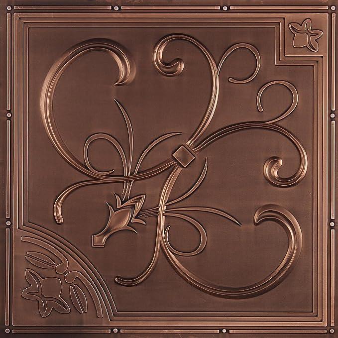 Amazon.com: udecor Francés cuarto de azulejos de techo (24 ...