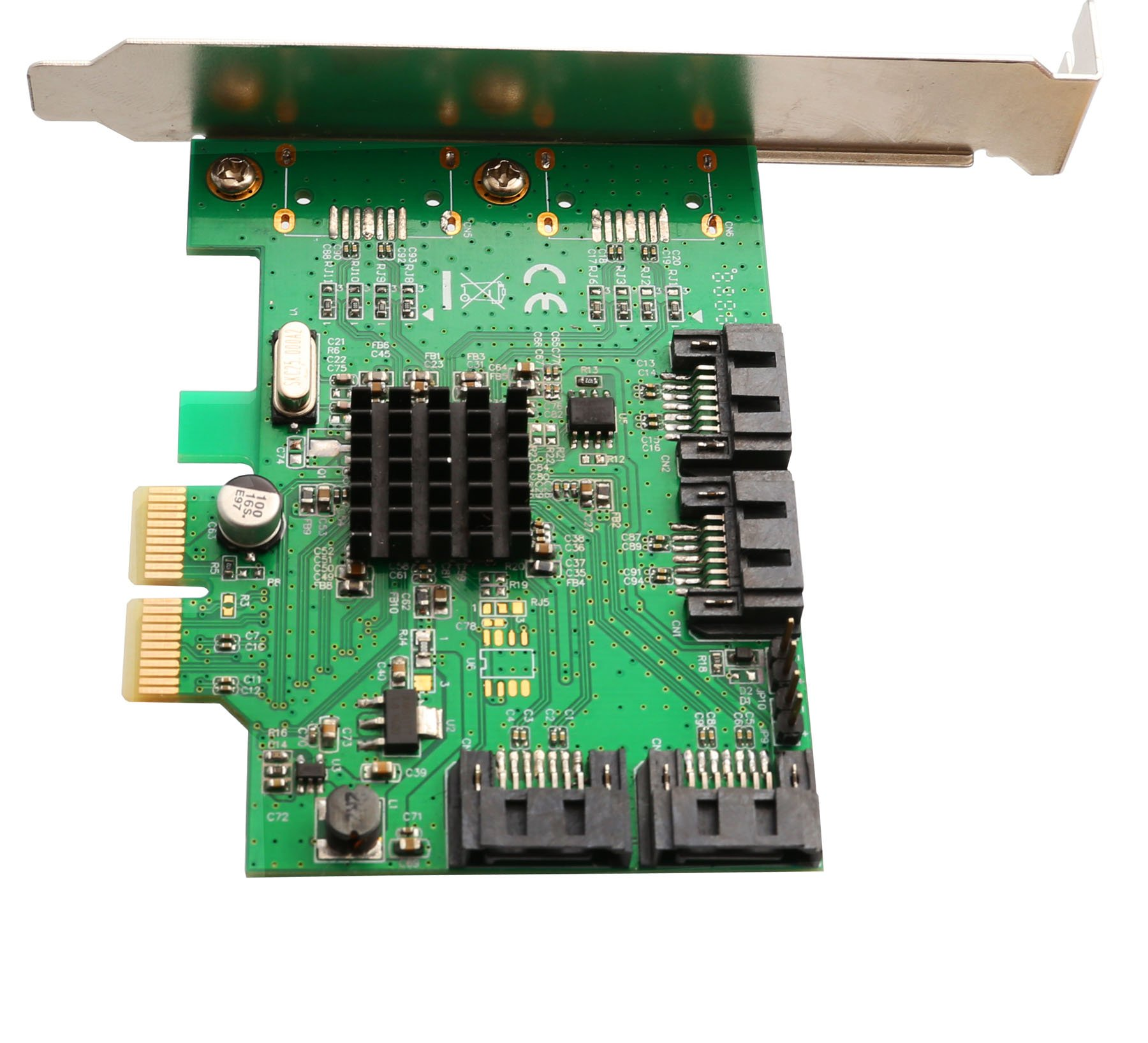 I/O Crest 4 Port SATA III PCI-e 2.0 x2 HyperDuo RAID Hard Drive Controller Card Marvell 9230 Chipset by IO Crest (Image #3)