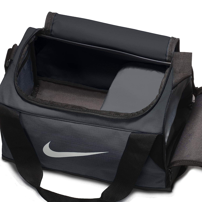 df1a0e028534b4 Amazon.com: NIKE Brasilia Training Duffel Bag, Black/Black/White, X-Small:  Clothing