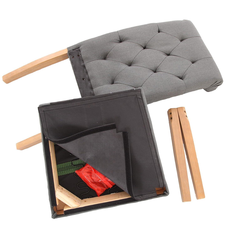 Esszimmerstühle 2er Set Küchenstühle Stoff in grau + Vintage ...