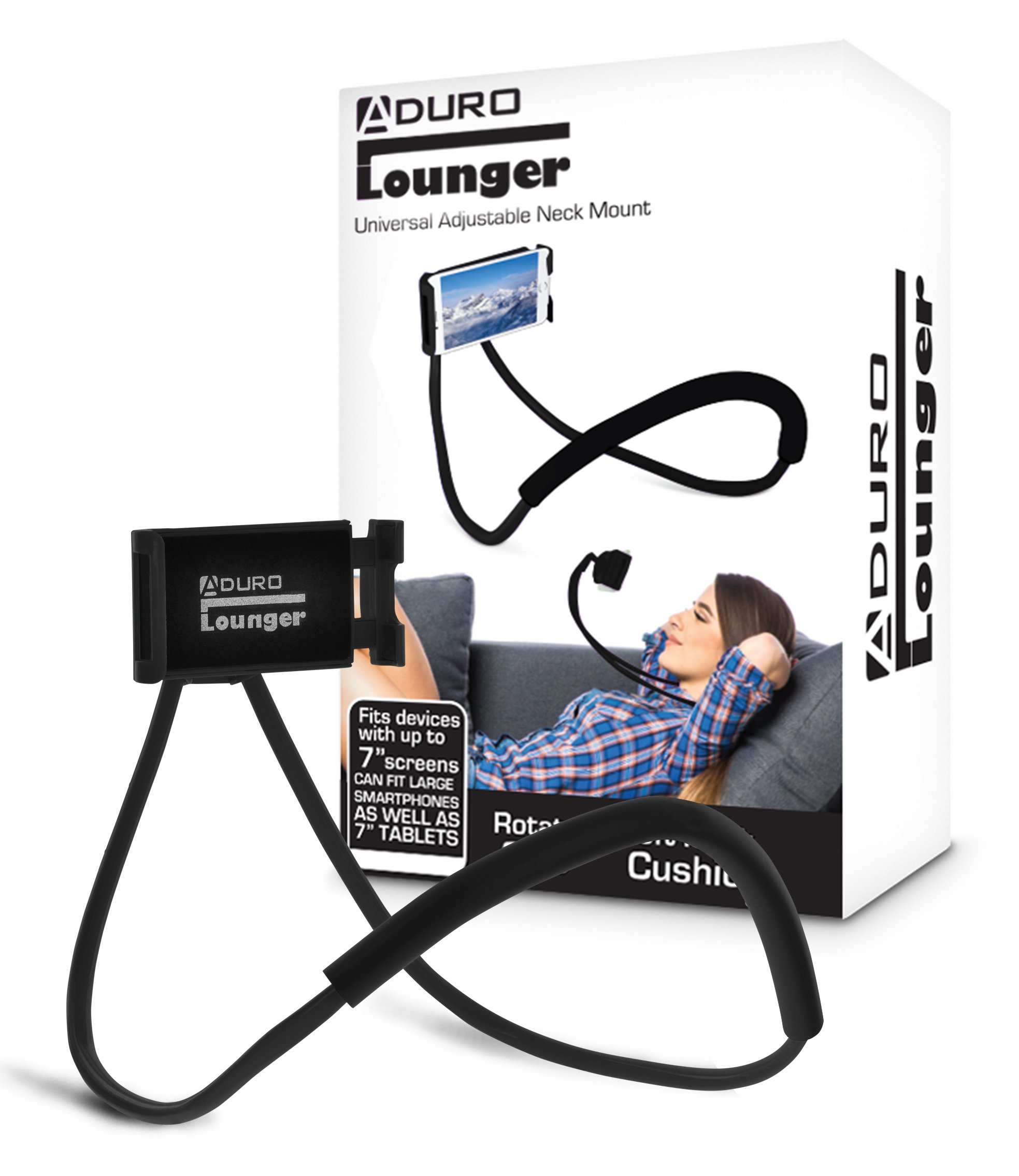 Aduro Phone Neck Holder, Gooseneck Lazy Neck Phone Mount to Free Your Hands for iPhone Android Smartphone by Aduro