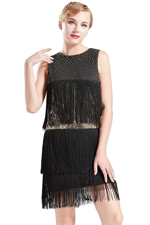 d0ac4064e4 ... Long Fringe Gatsby Dress Roaring 20s Sequins Beaded Dress Vintage Art  Deco Dress. Wholesale Price 32.99 -  33.99 1920s flapper dress size  XS    US 0-2 ...