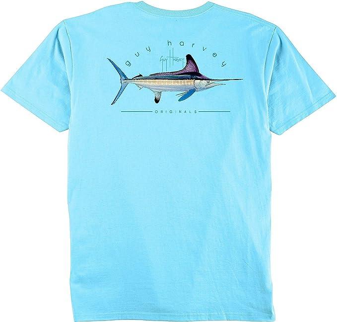 5ad108fb2 Amazon.com: Guy Harvey Clipper Short Sleeve Pocket T-Shirt: Clothing