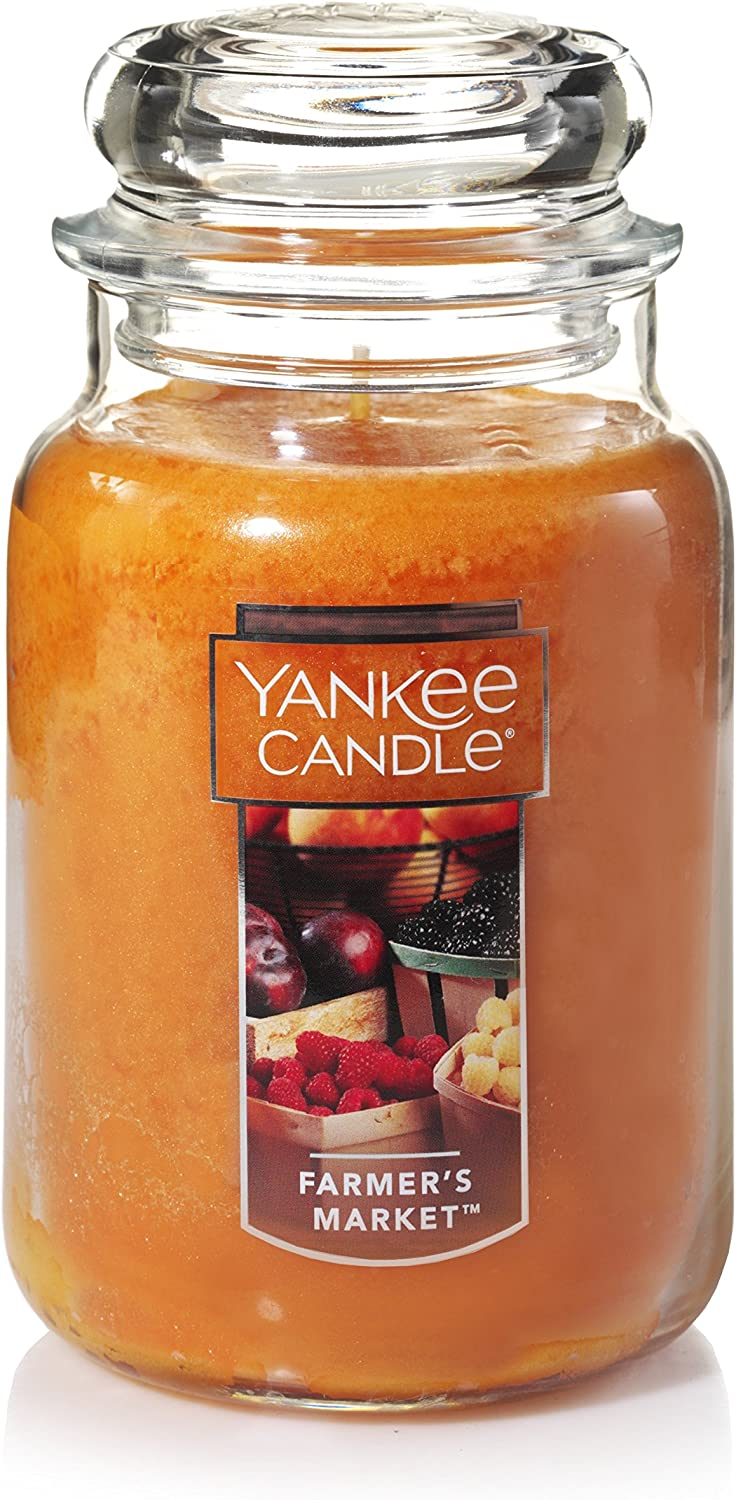 Yankee Candle Farmers Market Scented Premium Paraffin Grade Candle Wax with up to 150 Hour Burn Time, Large Jar