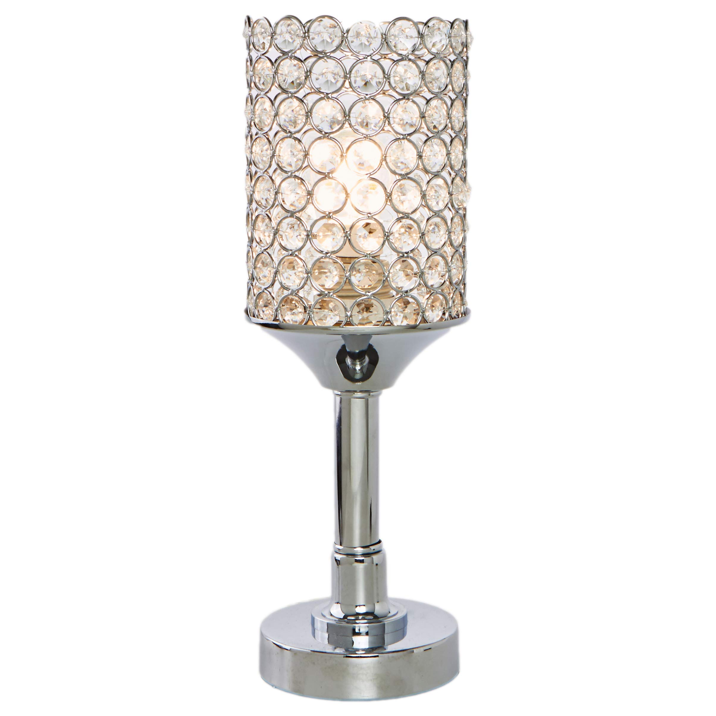 POPILION Superior Quality Noble Elegant Crystal Table Lamp,Inlaid Round Crystal,Small Lamp by POPILION