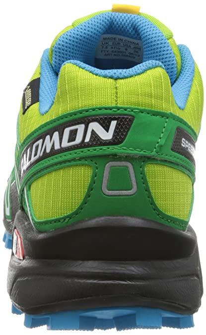 Salomon Herren Speedcross 3 GTX 3 Organic Green Clover, GrünFluoreszierendes Blau, Gr. 40