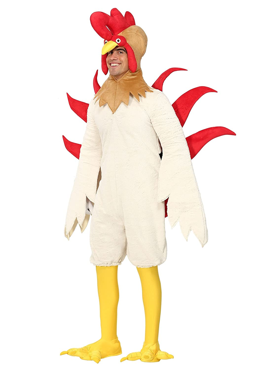 Adult Rooster Fancy Dress Costume Large