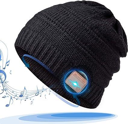 etc Chapeau Bluetooth pour la Course//Escalade//Randonn/ée Bonnet Bluetooth Cadeau Homme,Int/égr/é Haut-Parleurs St/ér/éo Bonnet de Musique Cadeaux Technologiques Uniques pour Les Hommes//Femmes
