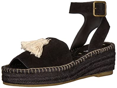 2ee81cdff089 Soludos Women s PEEP-Toe Platform (60 MM) Wedge Sandal Black 5 ...